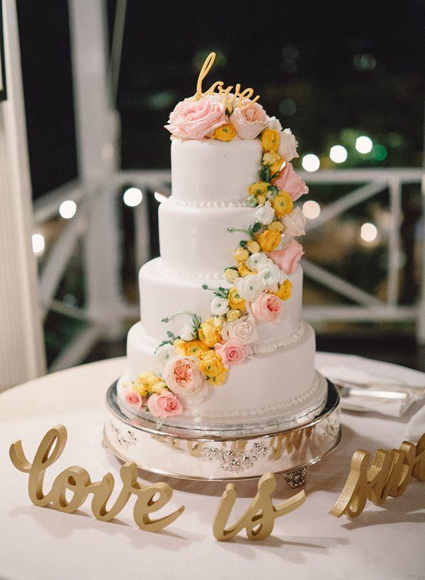 Jamaica Wedding At Round Hill Montego Bay Raine Aldo Event Inspiration Jamaica Wedding Wedding Cakes Floral Cake