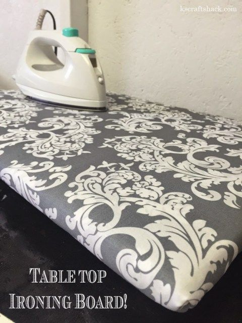 Table Top Ironing Board Craft Shack Chronicles Diy Table Top Tabletop Ironing Board Craft Room Tables