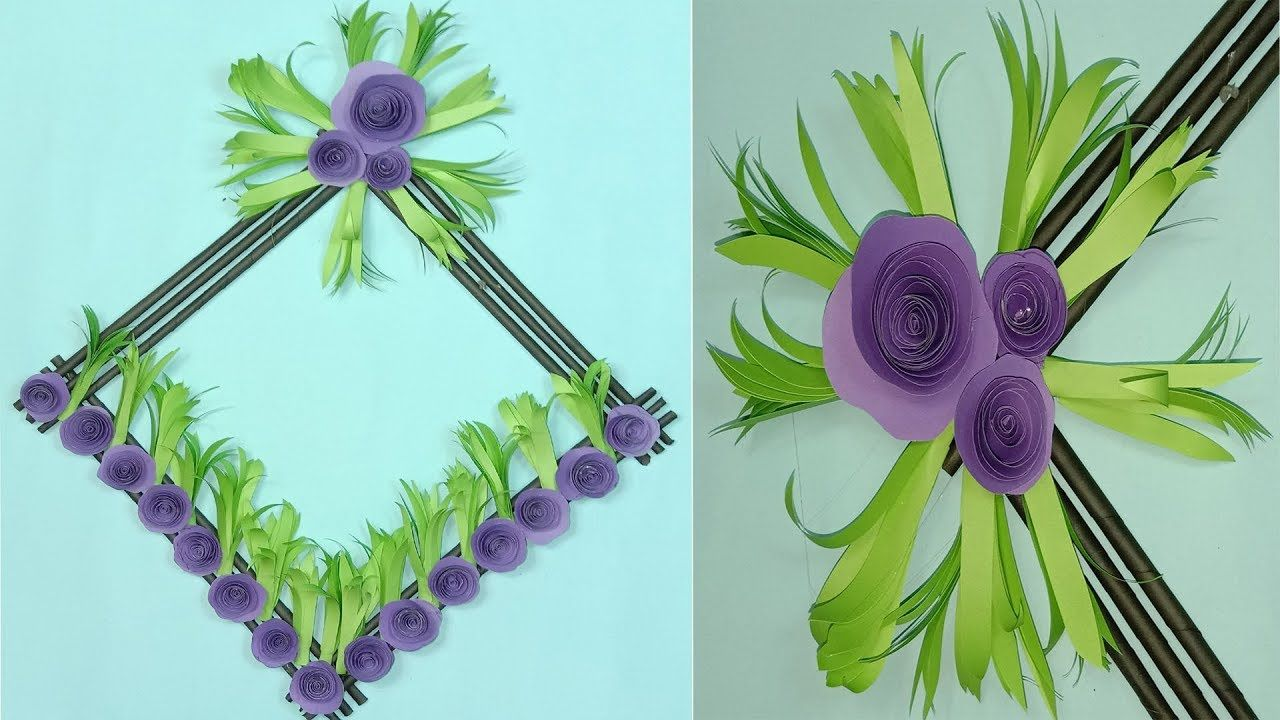 Rb Easy Crafts Diy Hanging Flower Wall Decoration Ideas Wall