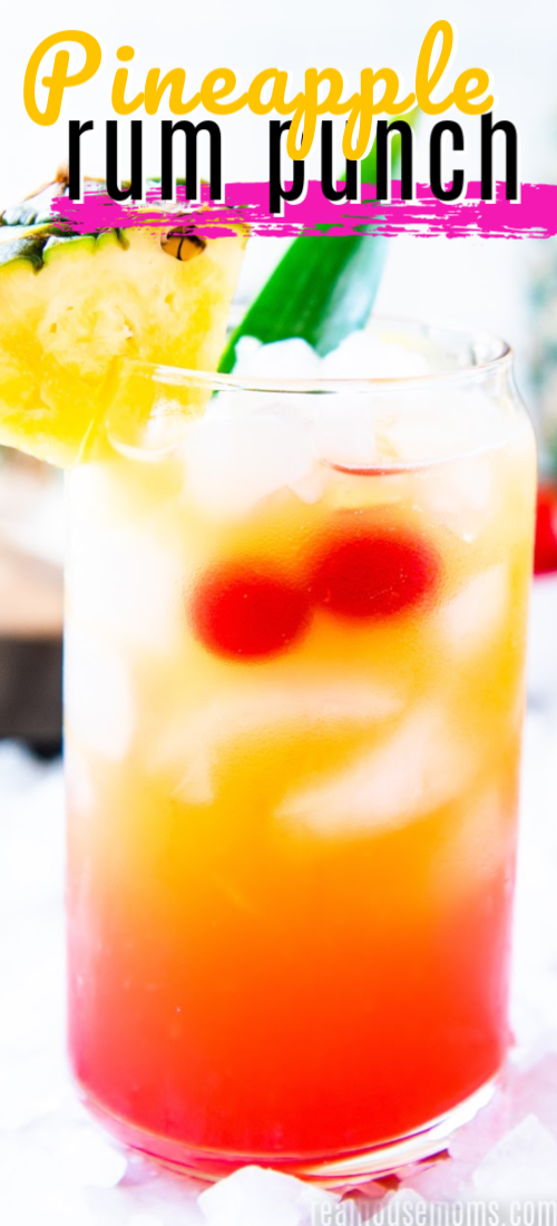 Throw Your Cares Away While You Enjoy This Pineapple Rum Punch A Pitcher Of This Fruity Caribbean C Rum Drinks Recipes Fruity Rum Drinks Fruity Alcohol Drinks