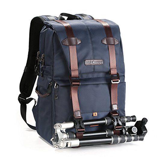 K/&F Concept Sac /à Dos Appareil Photo Sac DSLR Sac de Voyage Imperm/éable pour DSLR Canon Nikon Sony Olympus Noir