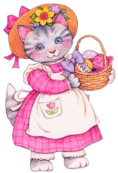 Image result for easter cats clipart