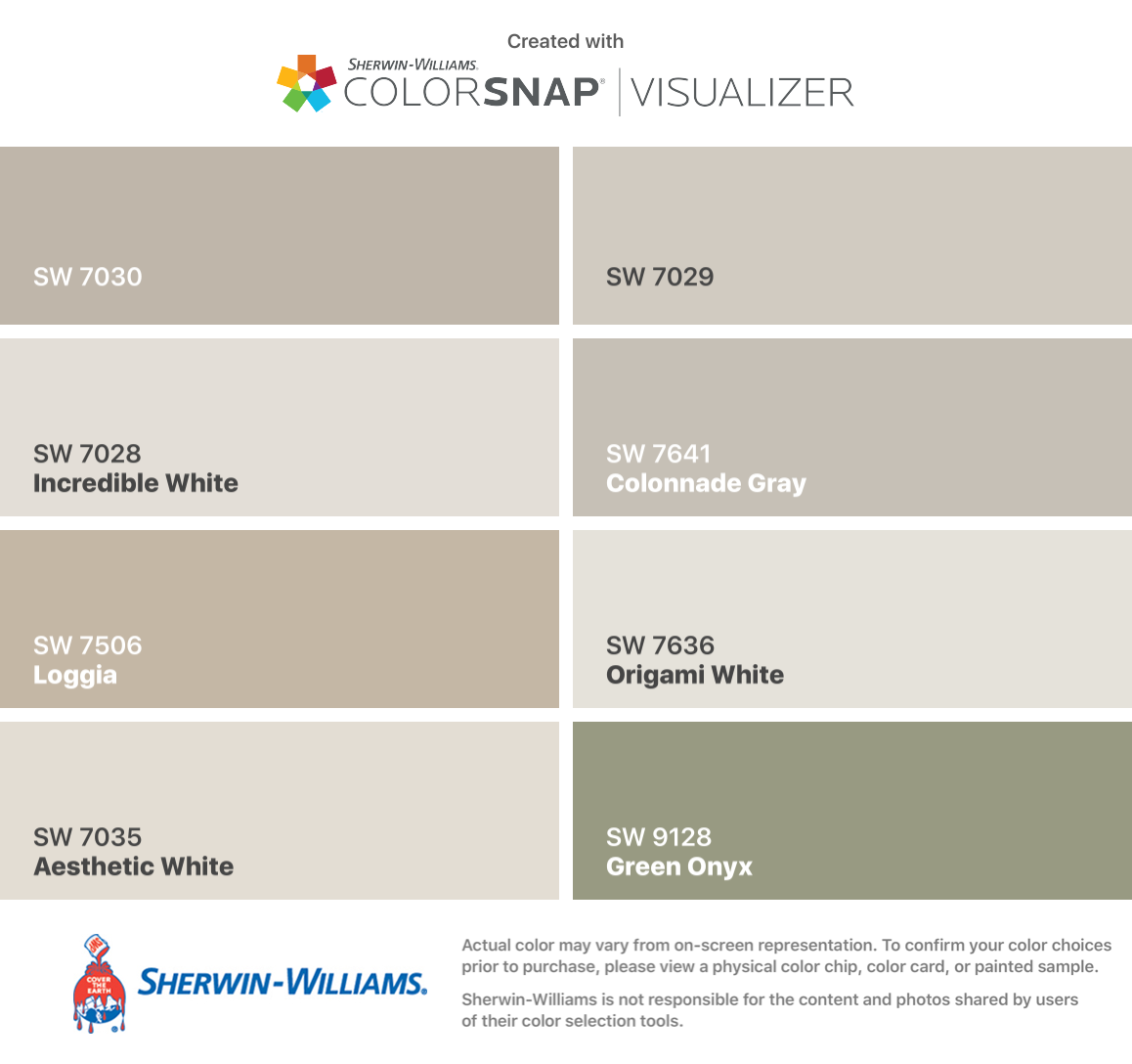 I Found These Colors With Colorsnap Visualizer For Iphone By Sherwin Williams Anew Gray Sherwin Williams Colors Paint Colors For Home Matching Paint Colors