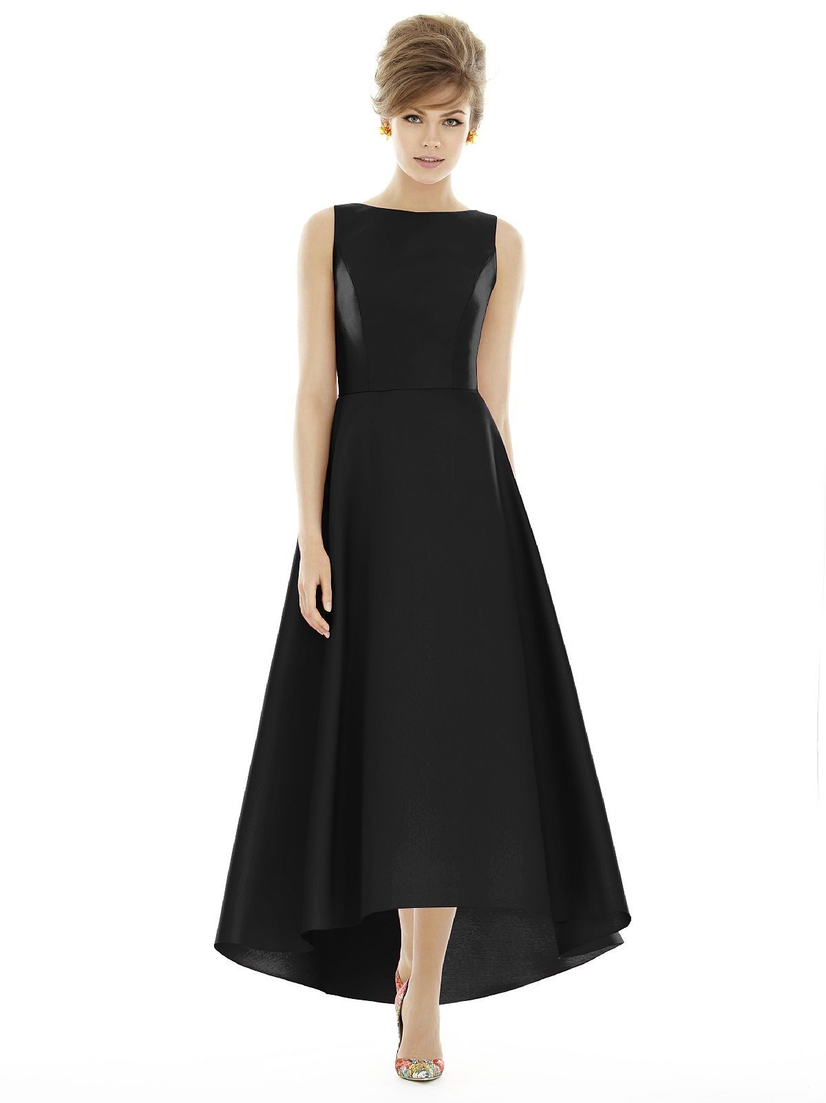 Alfred sung d sample sale bridesmaid dress in black my dream