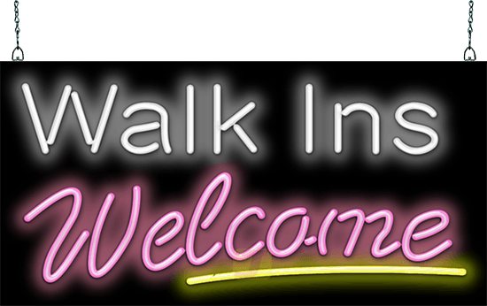 Walk Ins Welcome Neon Sign Neon Signs Neon New Sign
