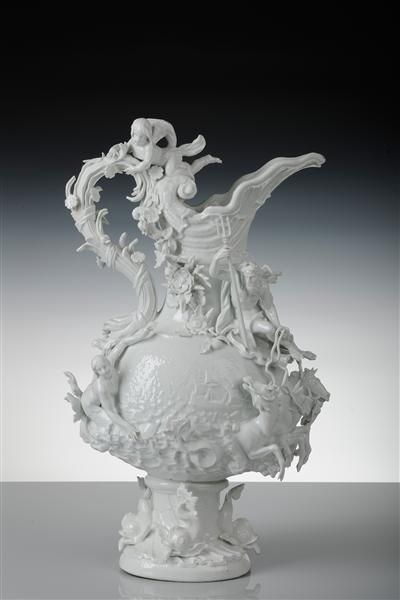 "Kändler, Vase (""Water"") from garniture for Louis XV, ca. 1741"