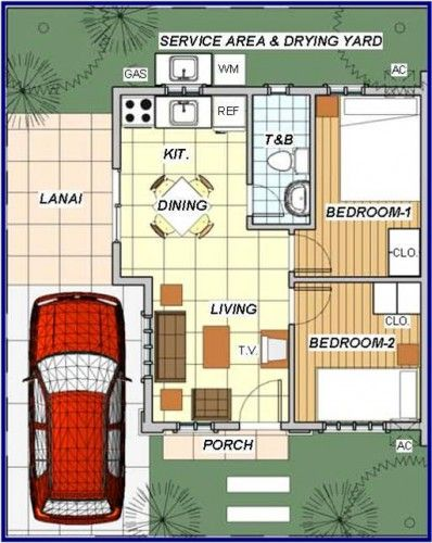Floor plan 3 bedroom house philippines for Bungalow house floor plan philippines