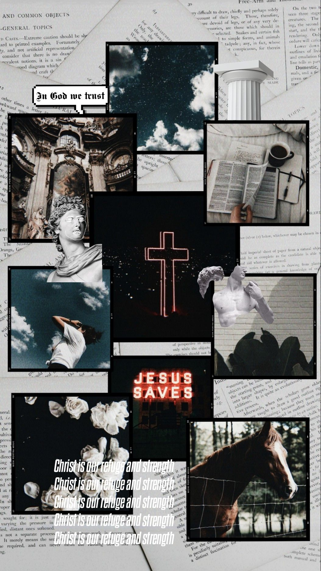 An aesthetic christian wallpaper in 2020