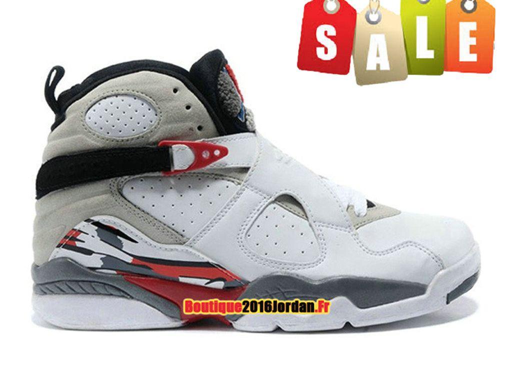 3927f54fb5e3e Air Jordan 8 Retro 2013 Chaussure Basket Jordan Pas Cher Pour Homme  Blanc Noir 305381-103