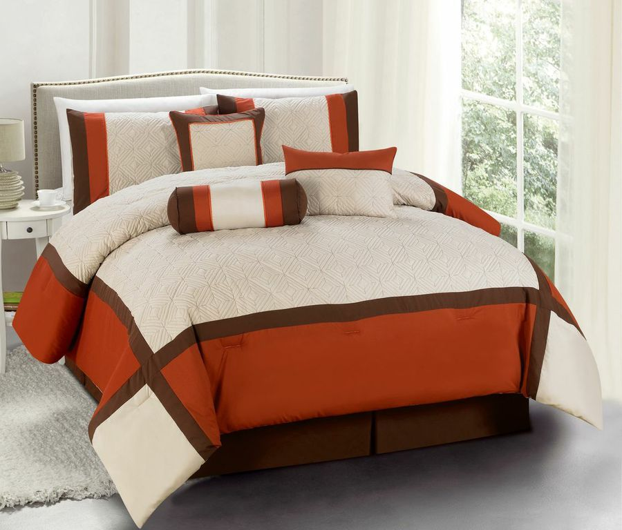 Odessa Brick 7 Piece Comforter Set Luxbed Before 94 97 Now
