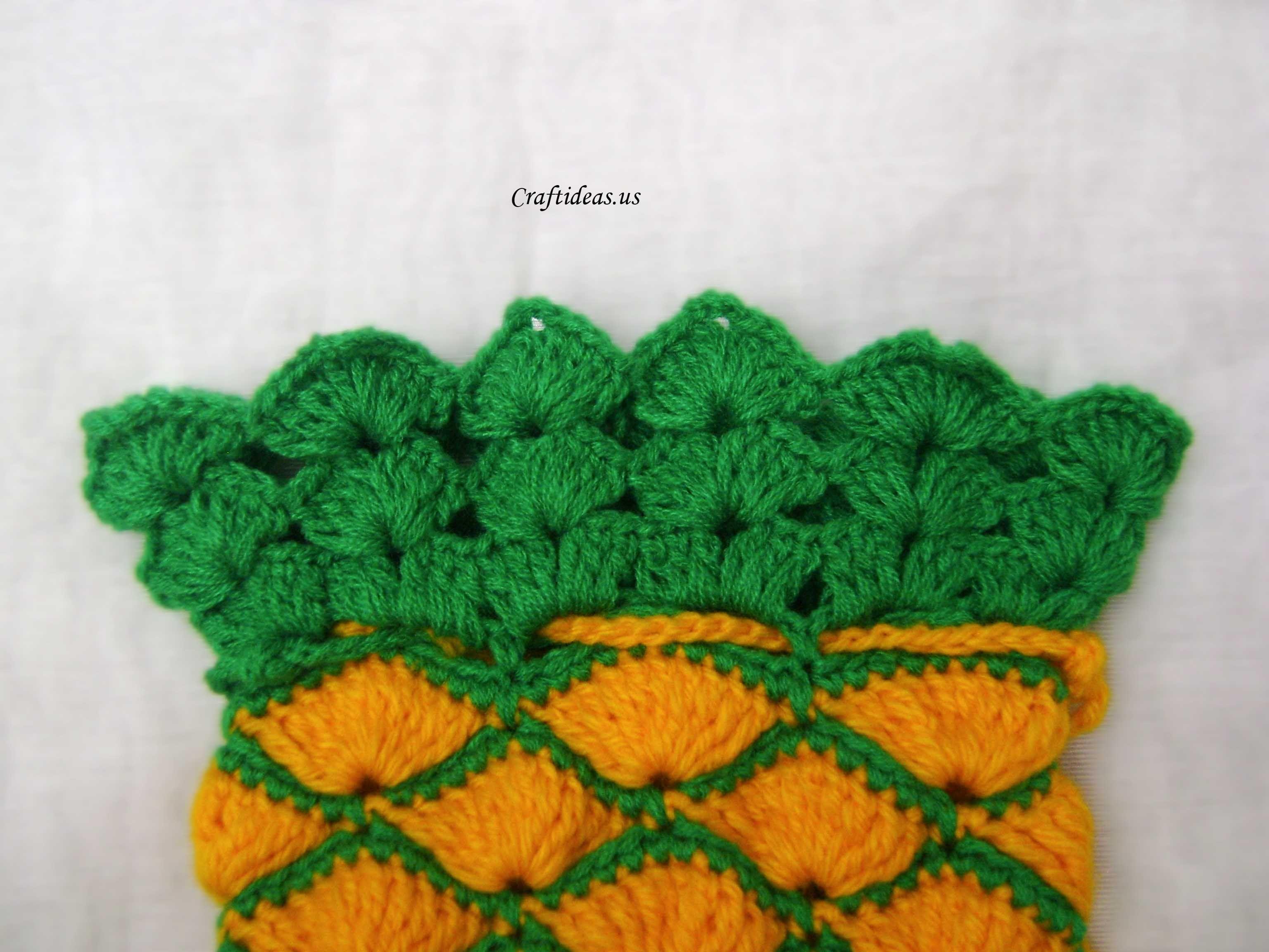 Crochet pineapple bag tutorial | Crochet patterns | Pinterest | Häkeln