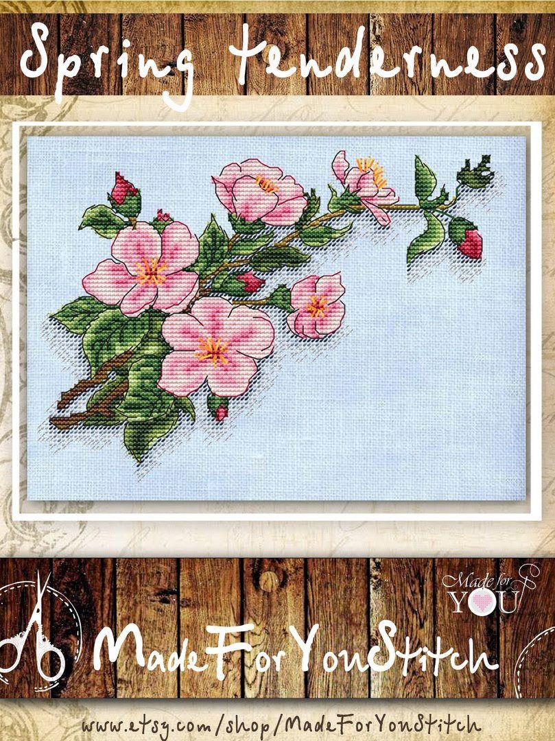 Cherry Blossom Counted Cross Stitch Pattern Pdf Sakura Tree Etsy Counted Cross Stitch Patterns Cross Stitch Tree Cross Stitch Patterns