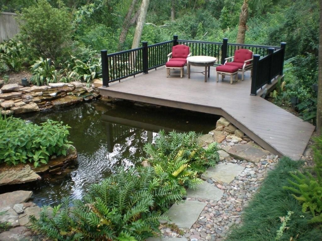 Home deck plans and ideas deck designs by exterior for Design fish pond backyard