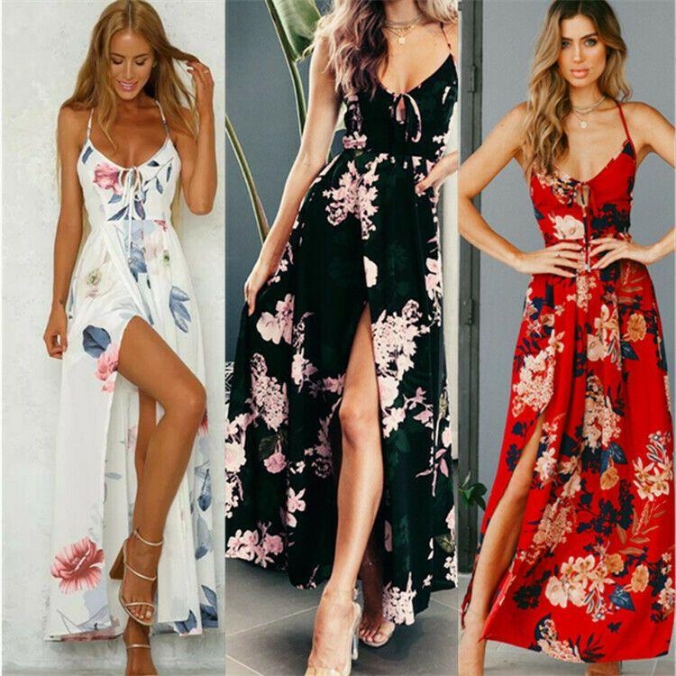 Party maxi party dress Women/'s sundress evening boho short floral cocktail