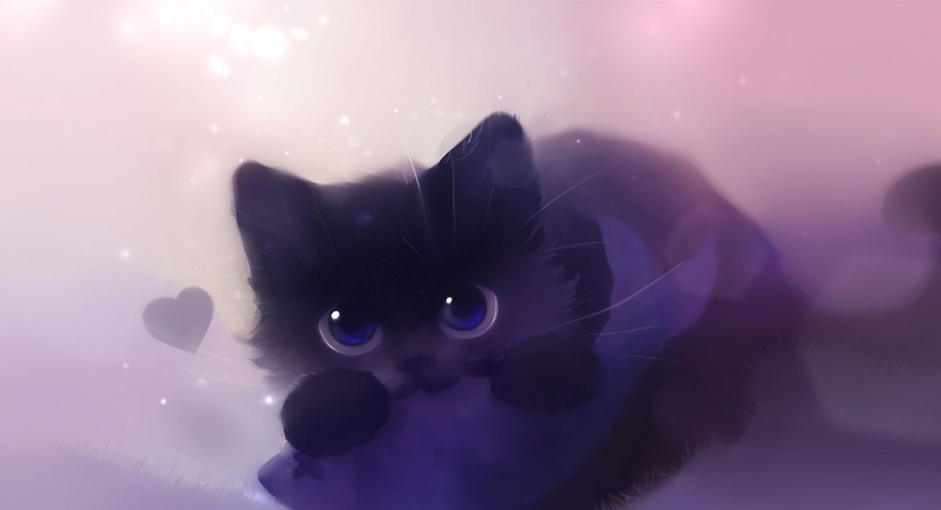 00 04 31 Fashion Arena Black Cat Anime Cute Anime Cat Cat Art
