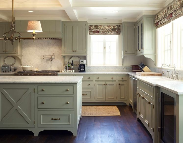 Love The Cabinetry, Marble And Beadboard Backsplash And Ceiling And Floor.  I Would Paint