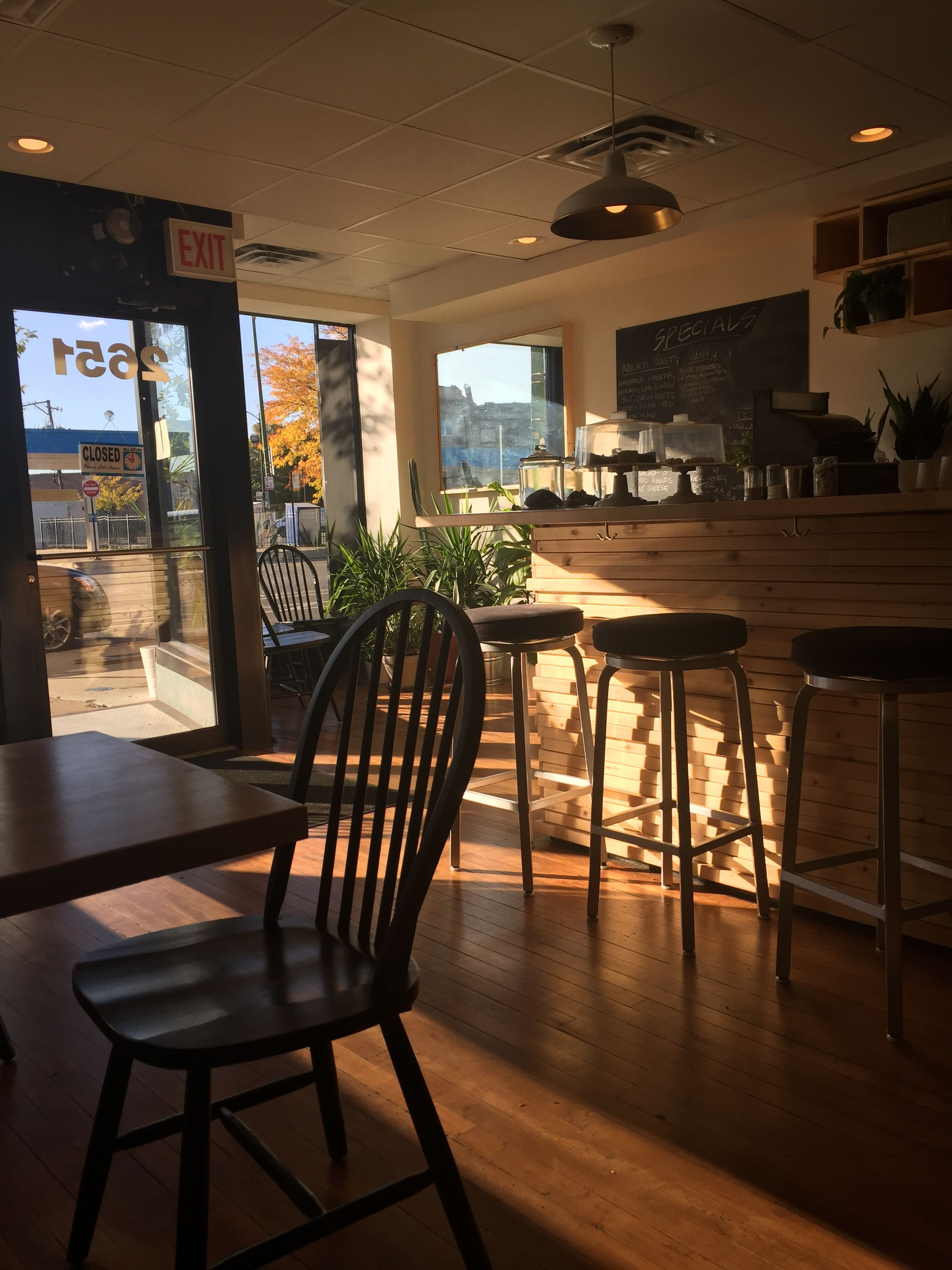 Same Day Cafe in Logan Square Dining chairs, Home decor
