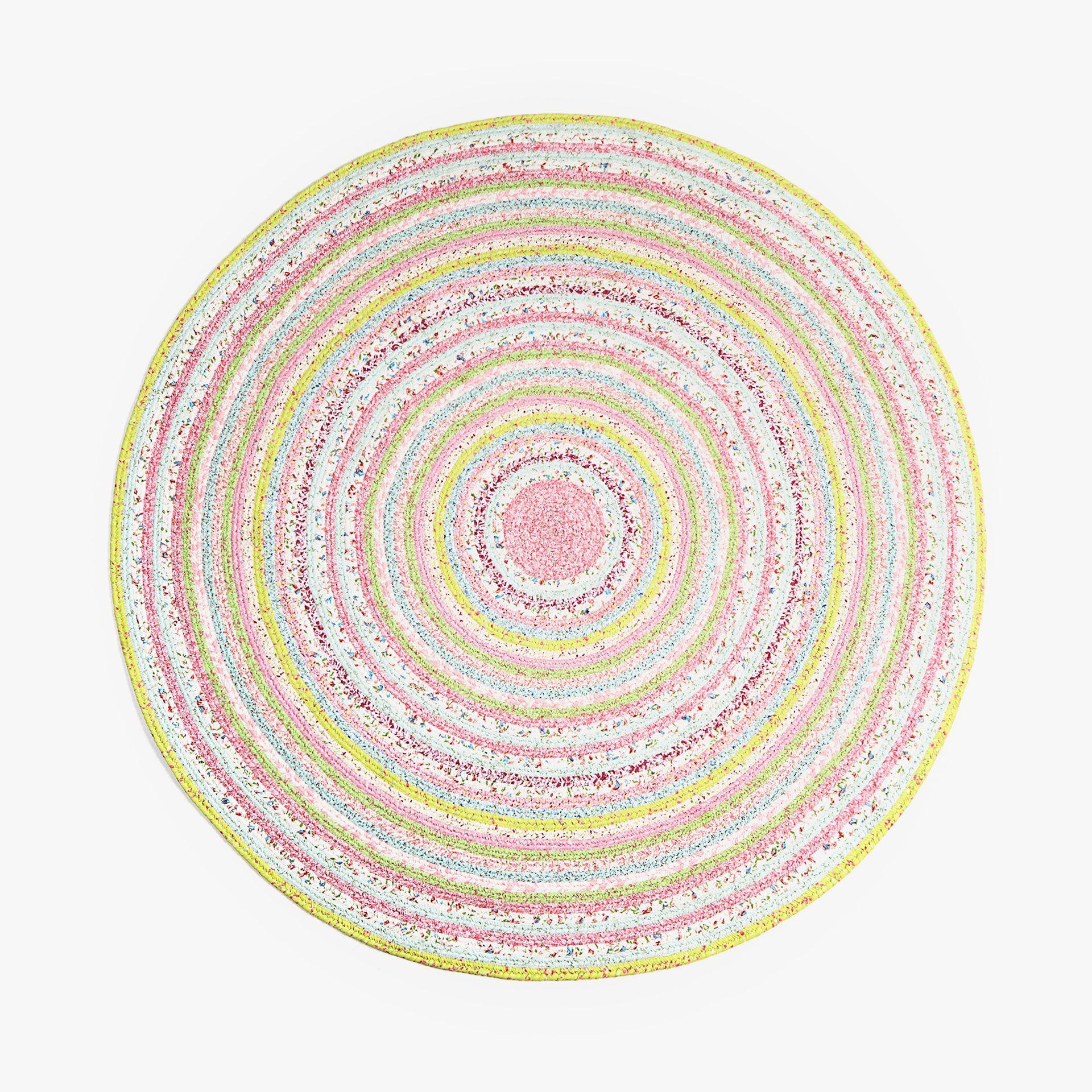 Afbeelding 1 van het product Rond tapijt met patchwork