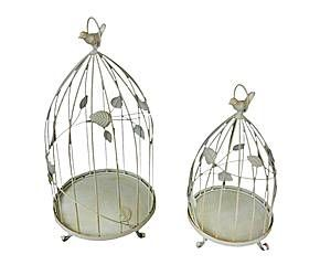 Set de 2 jaulas decorativas en hierro Birds