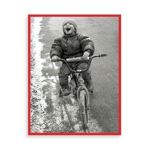 Boy on Bike Drawer Box Holiday Cards