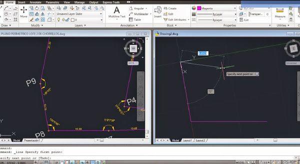 Autocad Tutoriales Tips Y Trucos Como Dibujar Lineas Solo Con Longitudes Y Angulos En Autocad Website Map Screenshot Map