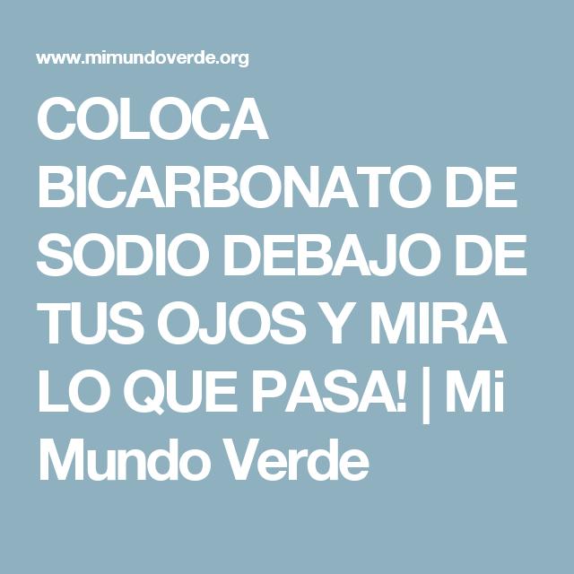 4deb8abae2 COLOCA BICARBONATO DE SODIO DEBAJO DE TUS OJOS Y MIRA LO QUE PASA!   Mi