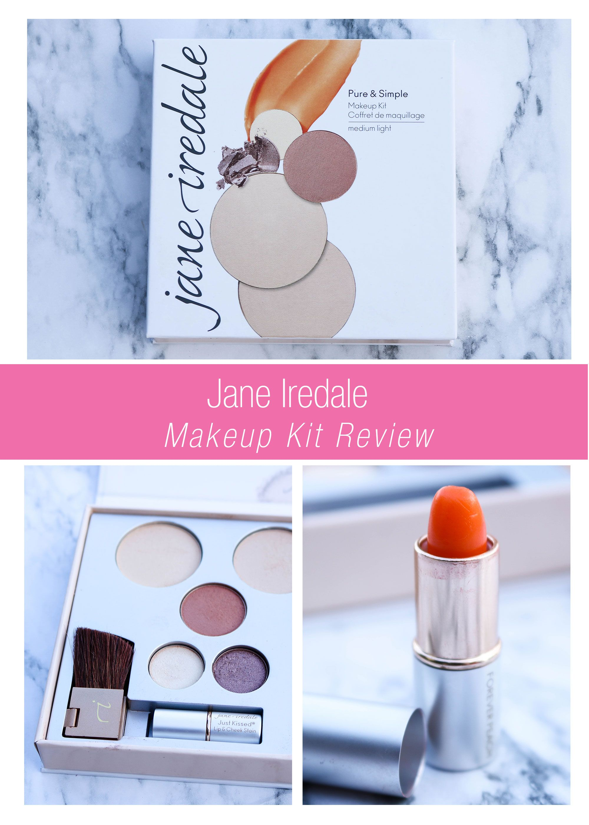 Jane Iredale Pure & Simple Makeup Kit Review (With images