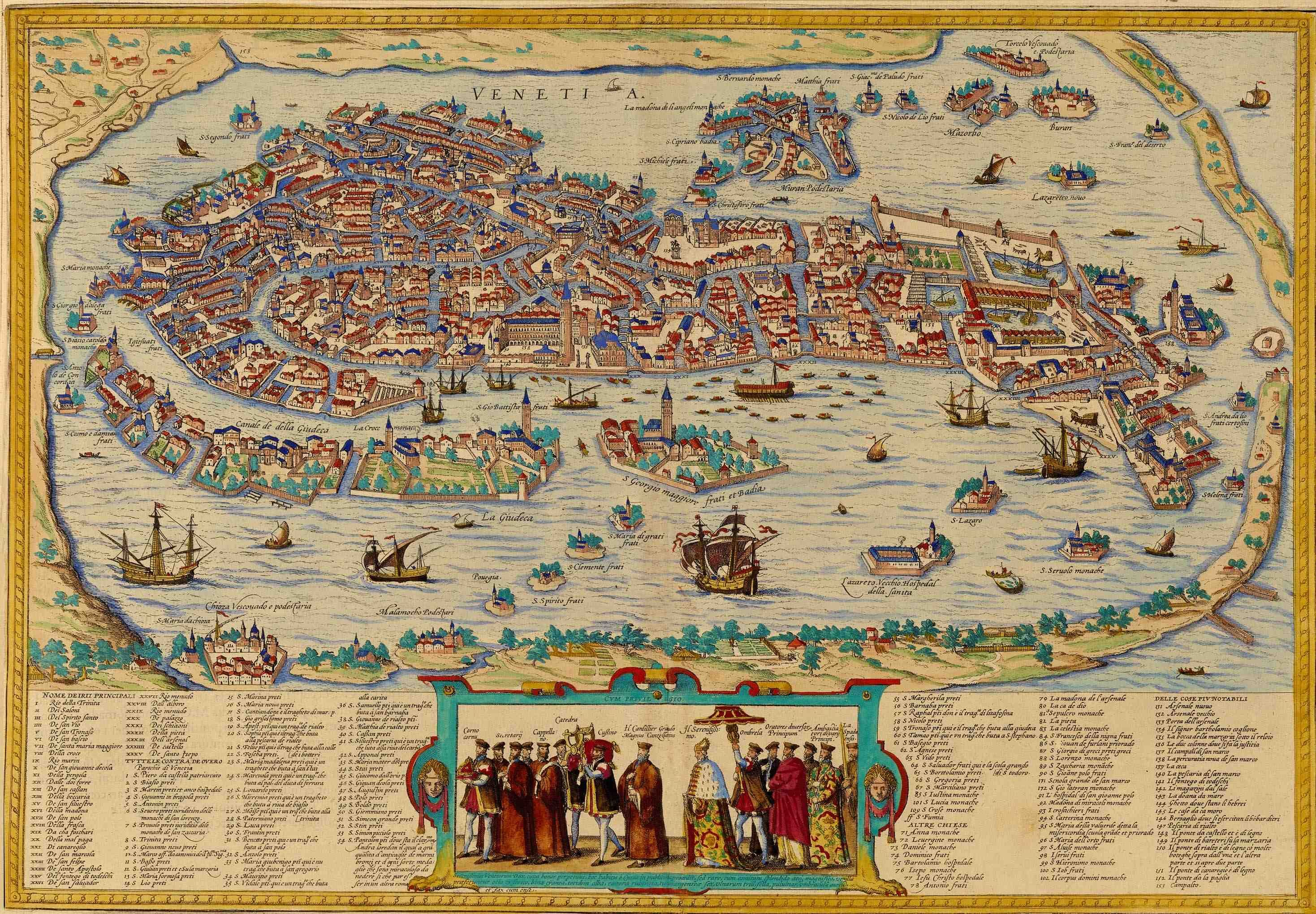 East Meets West In Venice Muslim Heritage Etc Pinterest - Map of venice 1500