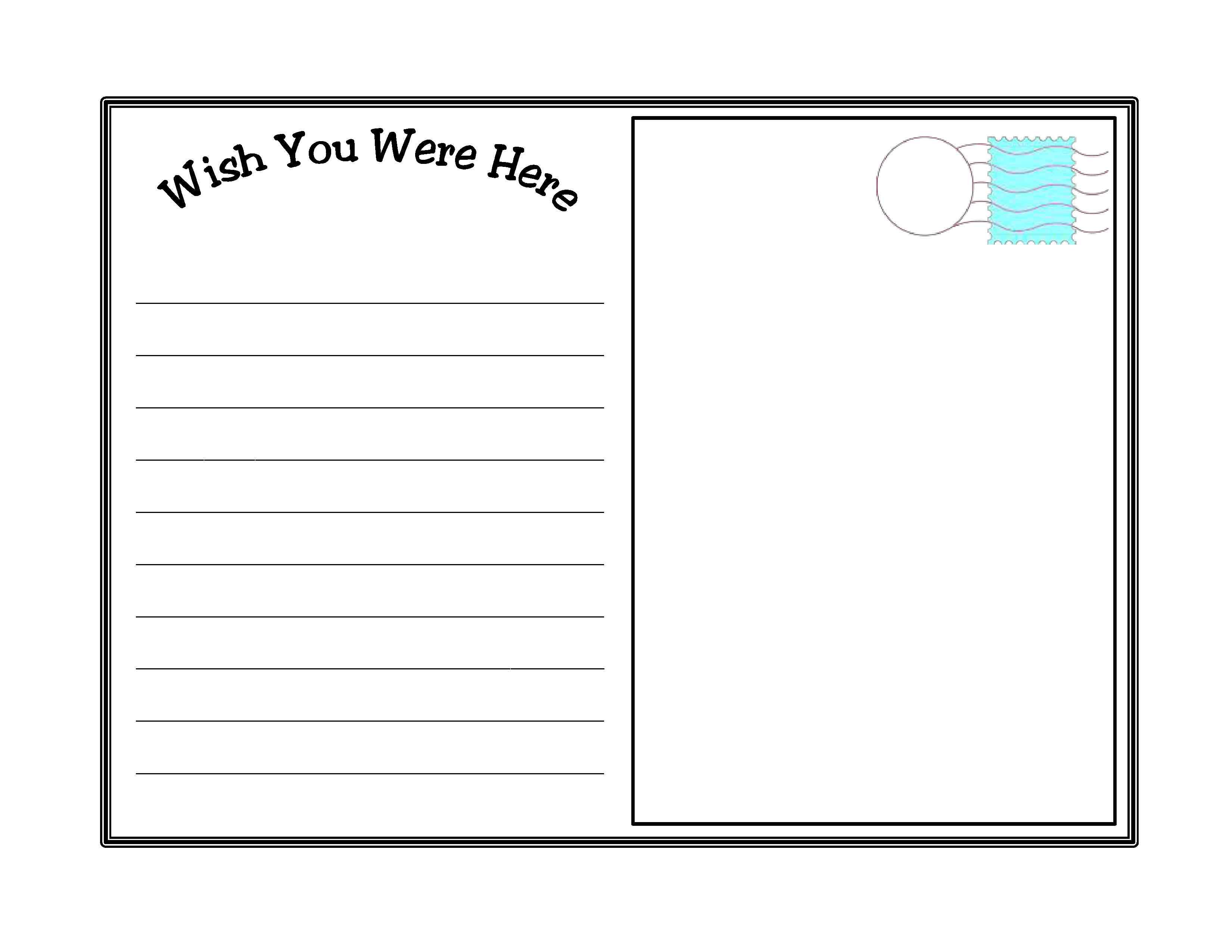 Bring Families Together With A Single Book Part 2 The Writing Program Scholastic Com Printable Postcards Postcard Template Postcard Template Free