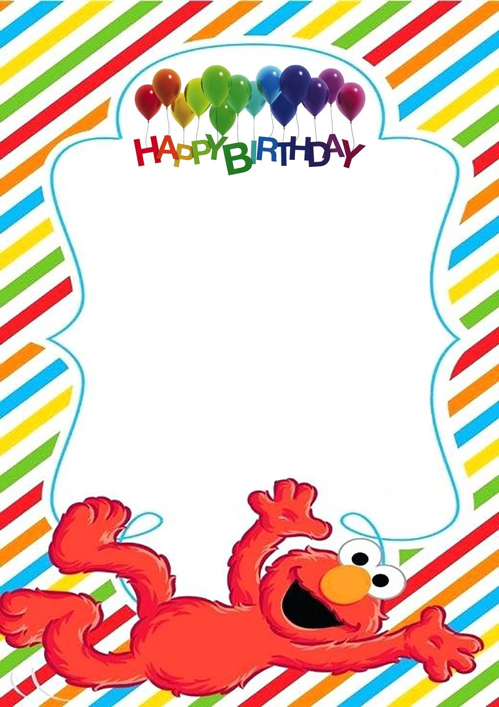 Elmo Birthday Party Invitation Template Elmo Invitations Elmo Birthday Invitations Elmo Birthday Party