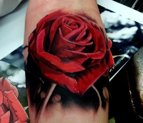 Red Rose Tattoo Kyle Cotterman The Best Flower Tattoos Rose Tattoos For Women Red Rose Tattoo Realistic Rose Tattoo
