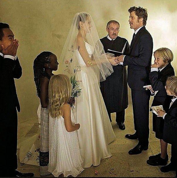 Paper Faces Angelina Jolie Brad Pitt Brangelina Dugunu Wedding Gelinler Dugun Fotograflari Angelina Jolie