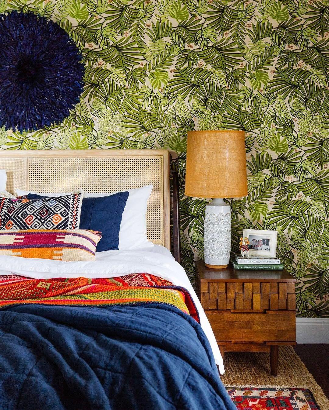Banana leaves and boho white home decor budget