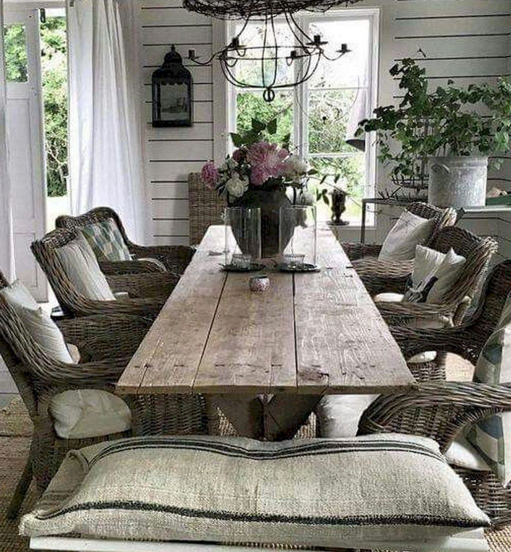 80 Lasting Modern Farmhouse Dining Room Decor Ideas Med Billeder Hjem Spisestue Ideer Spisebord