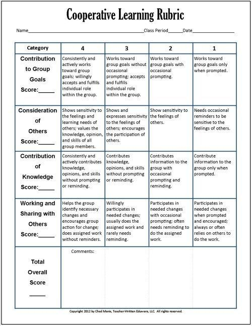 Cooperative Learning This free PDF packet includes documents for