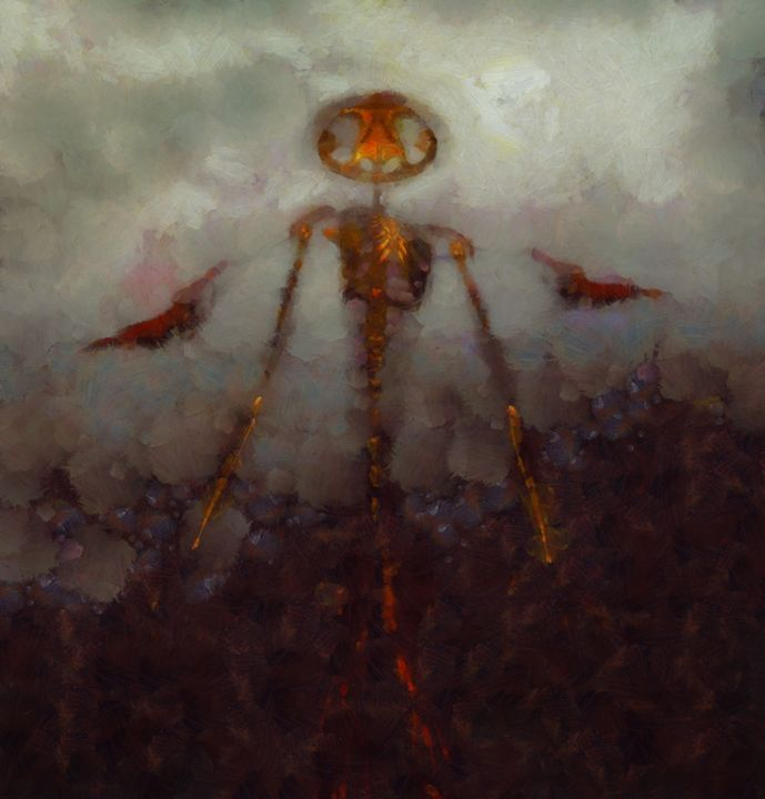 It Came From Hell by Sarah Kirk - Esoterica Art Agency - Paintings &… | ArtPal thumbnail