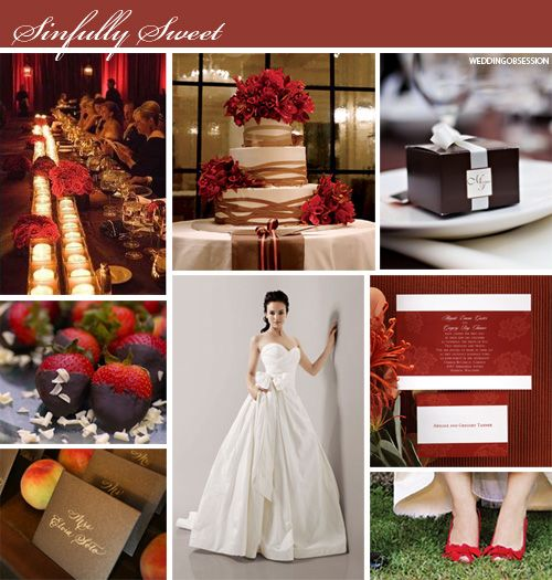 Ideas On Apple Red Champagne Gold Weddings