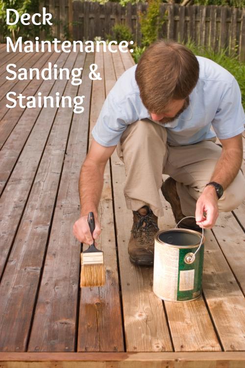 Deck Maintenance Sanding Staining Staining Deck Deck Maintenance Wooden Decks