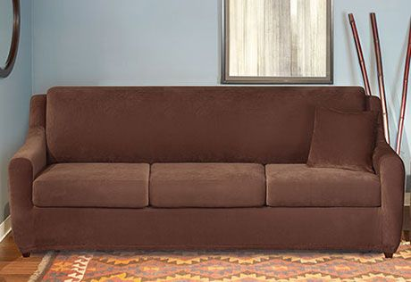 sure fit slipcovers stretch pique 3 seat sleeper sofa 3 seat sleeper sofa