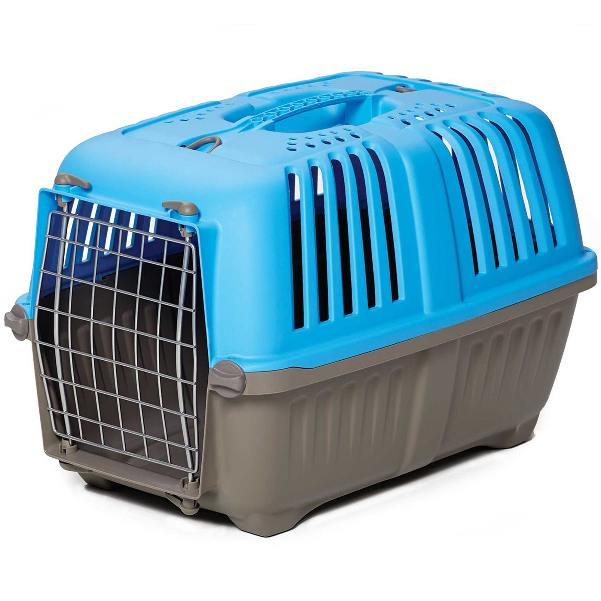 Spree Plastic Carrier Blue 22 L X 14 W X 14 H Small Pet Carriers Puppy Carrier Cat Carrier
