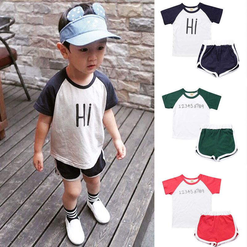 78e698198 Click to Buy    2017 Kids Clothes Children Boys Summer Clothing Sets ...