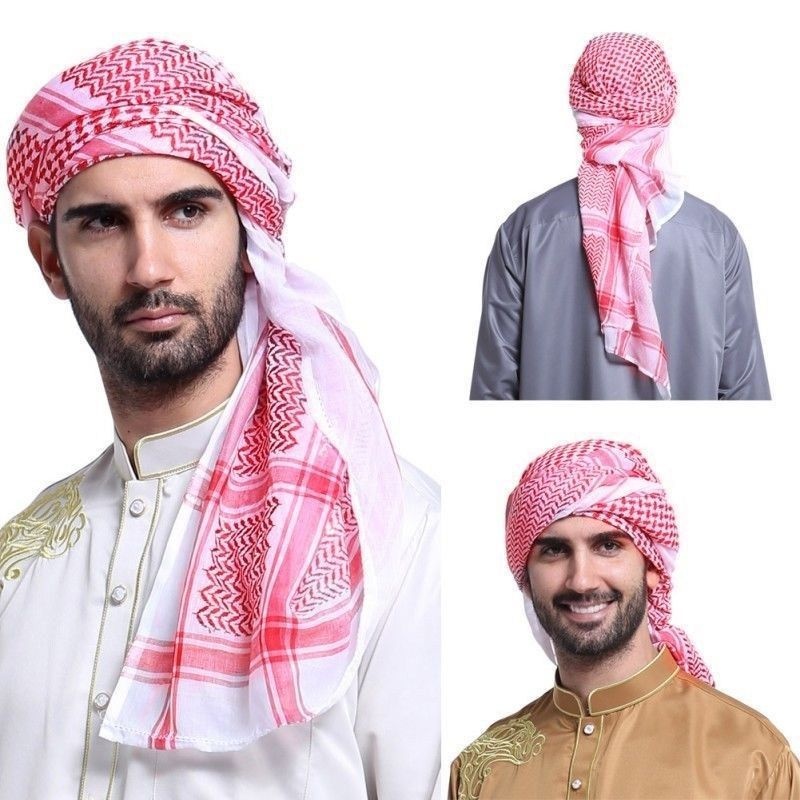 Men Muslim Headscarf Hijab-Cap Scarf Islamic Arab Hat Head Cover Turban Headwrap