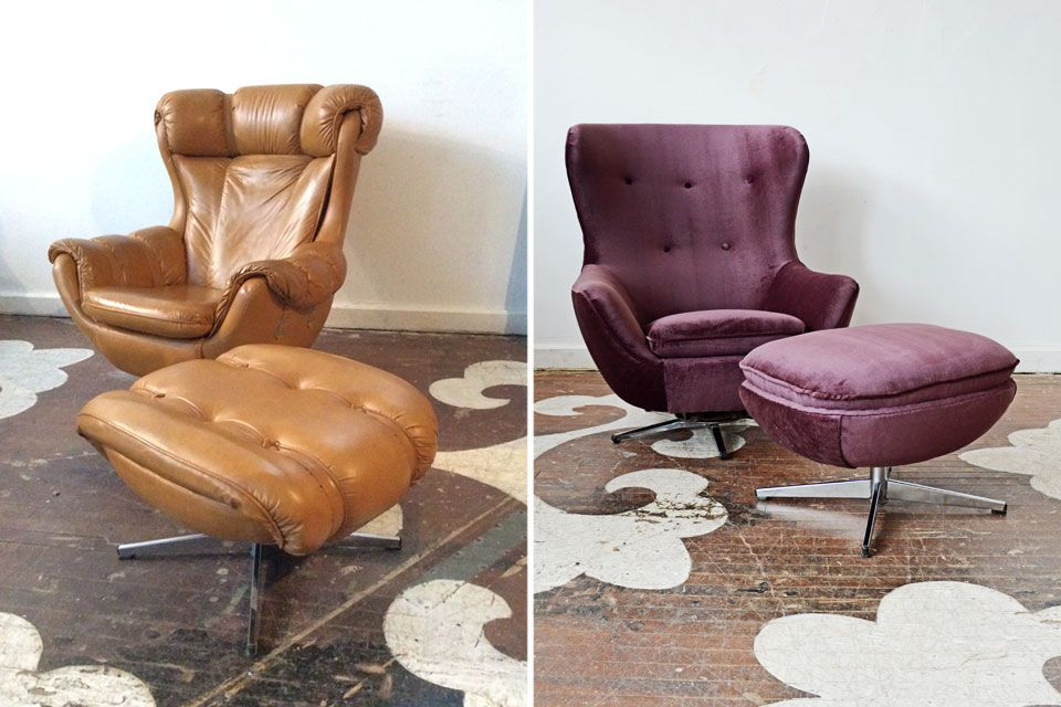 This Is The Same Chair And Ottoman. Can You Believe It? Our