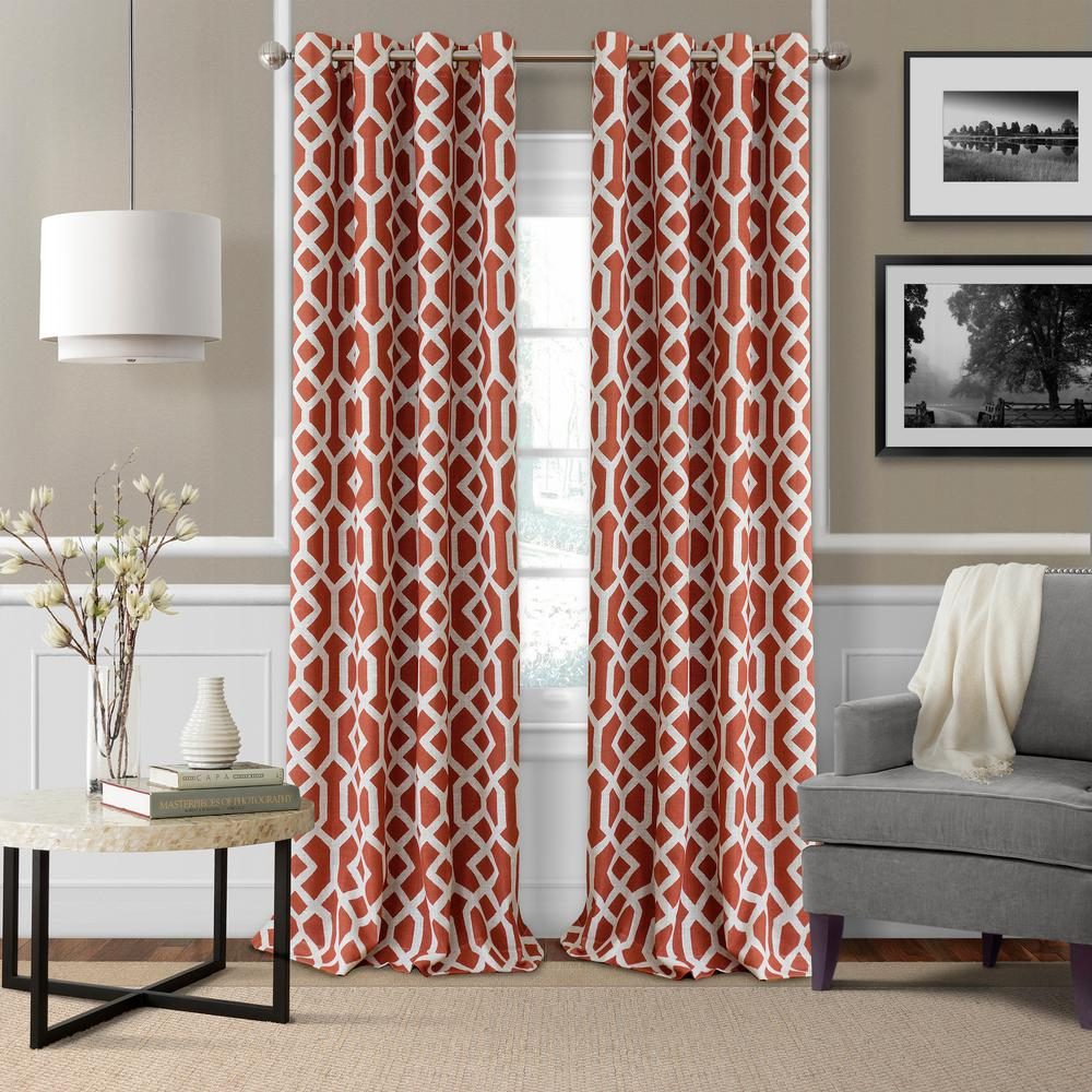 Elrene Grayson Trellis Room Darkening Window Curtain El