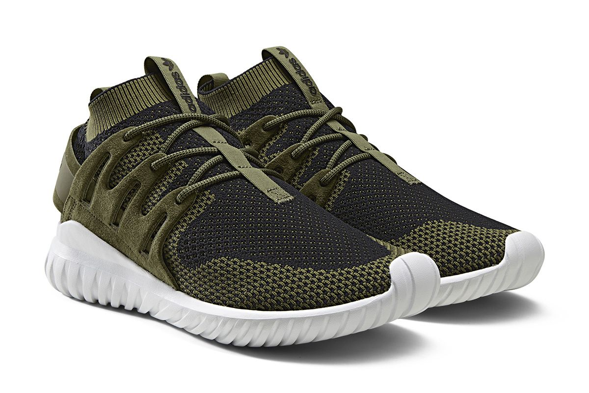 adidas Originals\u0027 Tubular Nova is sporting Primeknit for this upcoming  release. Dressed in olive cargo and black over the Primeknit base, the  silhouette is