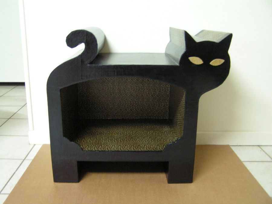 Muebles de cart n para gatos cardboard furniture for - Sofas para gatos ...