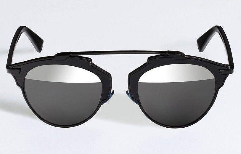 febdd2b372 Dior Sunglasses (Men s Pre-owned So Real Half Mirror Black Lenses Designer  Sun Glasses)
