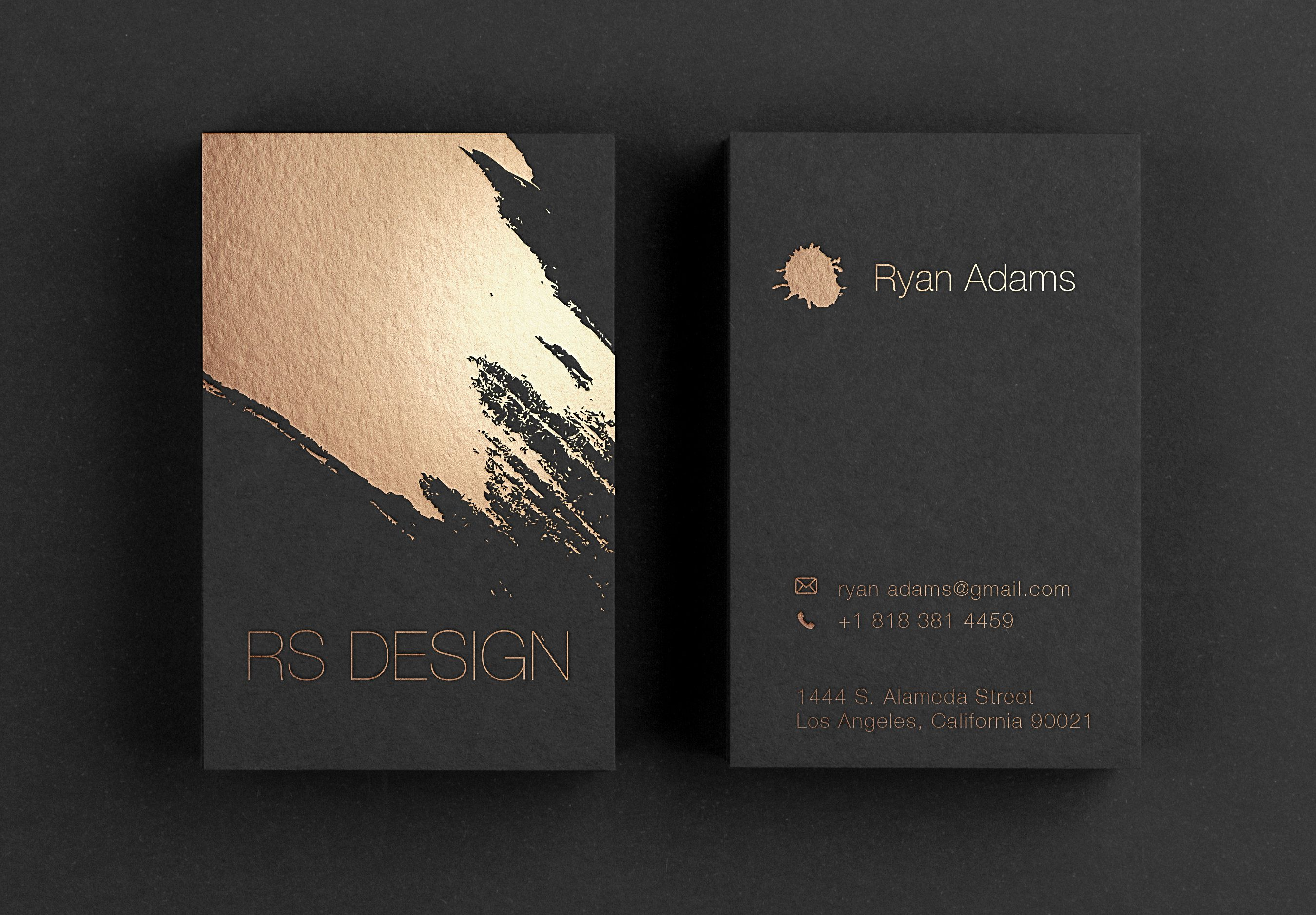Luxury Black Business Card Printing Business Card With Matte Gold Foil Stamping Gold F Foil Business Cards Business Card Design Black Printing Business Cards