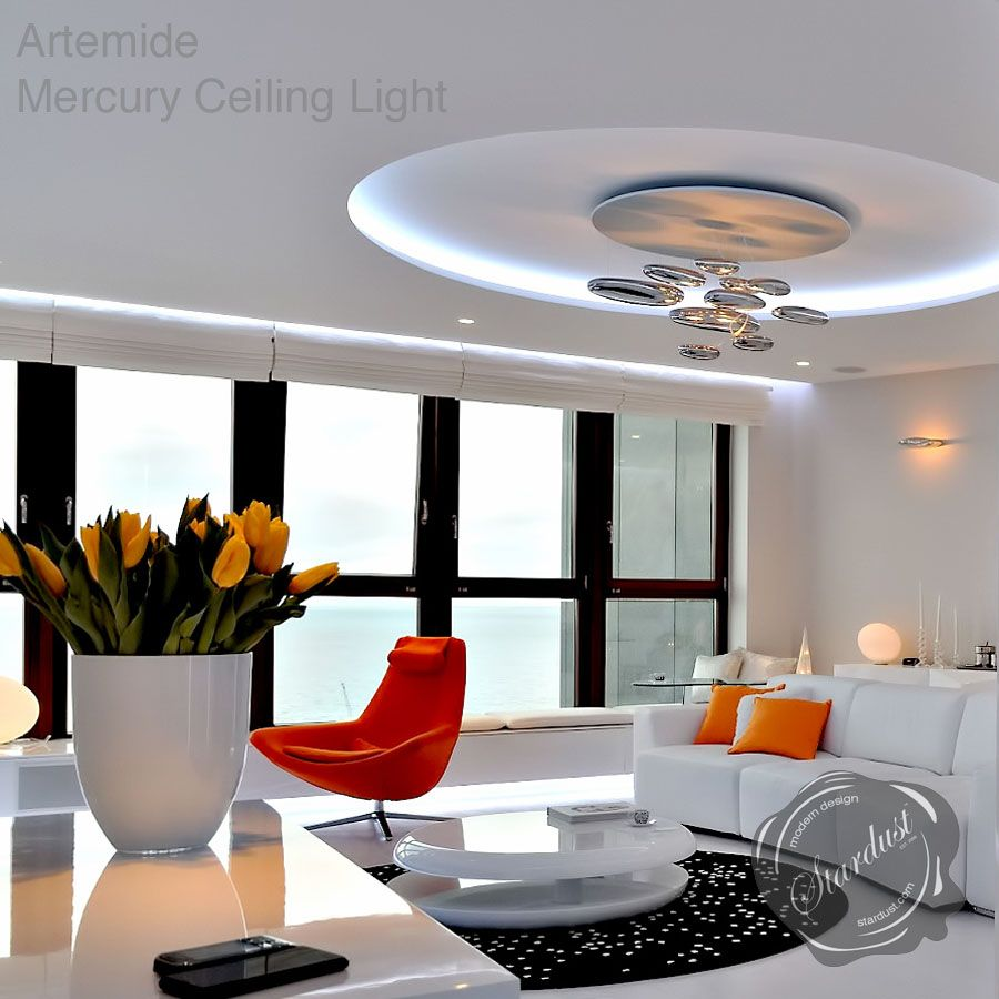 Artemide Mercury Ceiling Light By Ross Lovegrove Stardust Ceiling Lights Artemide Artemide Lighting