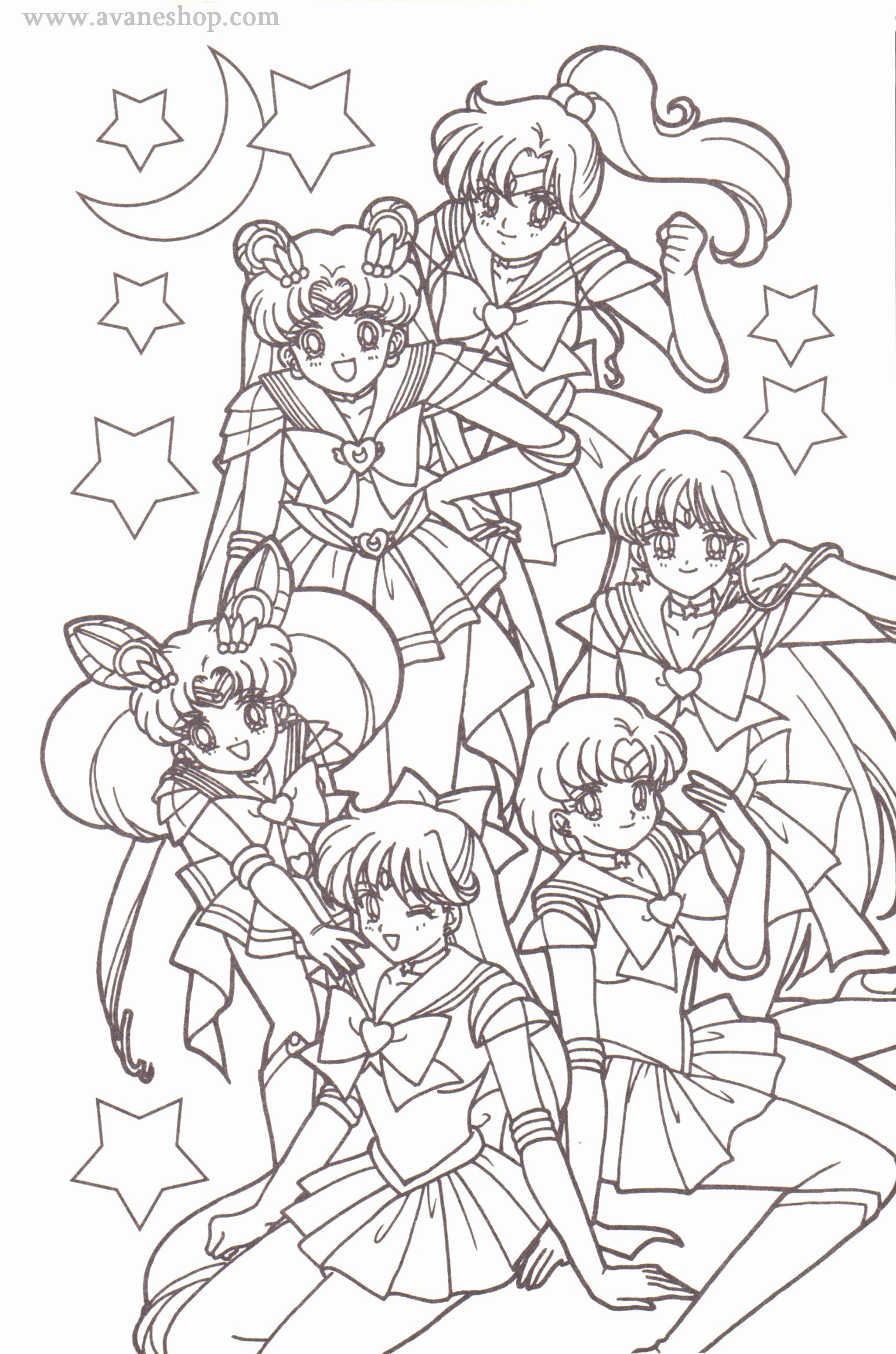 Sailor Moon Coloring Page New Sailor Moon Coloring Pages Avaneshop Avane Vintage Toys Sailor Moon Coloring Pages Moon Coloring Pages Chibi Coloring Pages